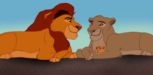 Redraw Mufasa and Sarabi and their son Simba by samanthaxkizzy
