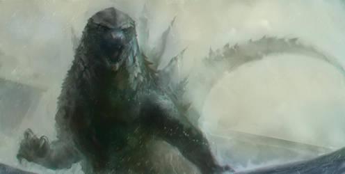 Godzilla 2014 by THEZENTLION