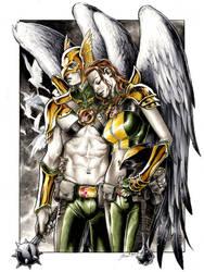 Hawkman and Hawkgirl by DanielGovar