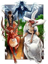 Princess Mononoke 1 by DanielGovar