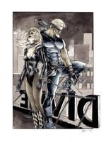 Black Canary and Green Arrow by DanielGovar