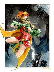 Carrie Kelley Robin and Batman by DanielGovar