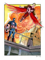 Captain America and Falcon by DanielGovar