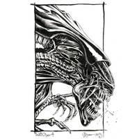 Inktober 04 Alien Queen by DanielGovar