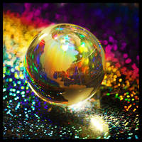 Rainbow Globe by Lilyas