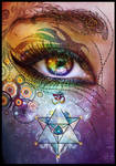 Rainbow Eye: Love and Light by Lilyas
