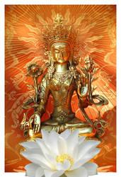 Bodhisattva White Tara by Lilyas