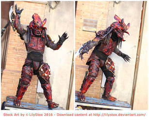 Stock Art Alien Monster Warrior by Lilyas