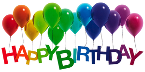 Happy Birthday Rainbow Balloons by Lilyas