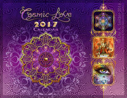 Cosmic Love 2017 Calendar Cover by Lilyas
