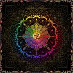 OM Rainbow Mandala by Lilyas