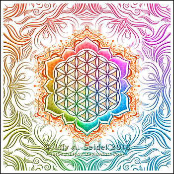 Flower of Life Lotus by Lilyas