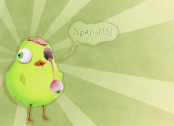 Chick Zombie by Corvocollorosso