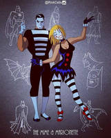The Mime and Marionette - BTAS style by RickCelis