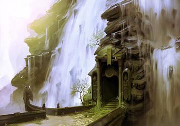 Waterfall Doorway by arcipello