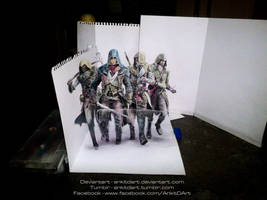 Assassin's Creed - Unity (3D drawing) by Ankredible