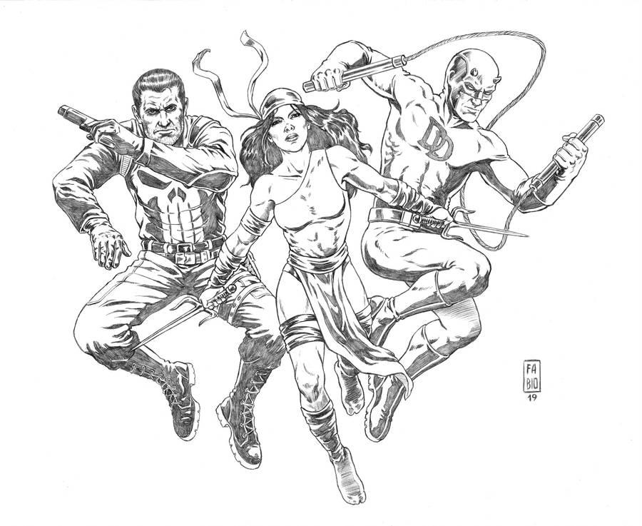 Marvel Knights (penciled) by fsgu