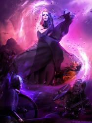 (Impending) Energy Blasting Kajsa by AlexandraVBach