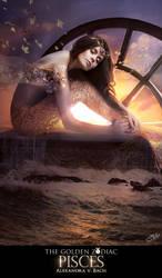 The Golden Zodiac Pisces by AlexandraVBach