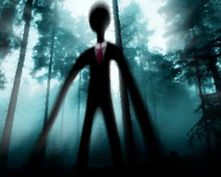 Slender Man in the Woods by eagleoftheninth