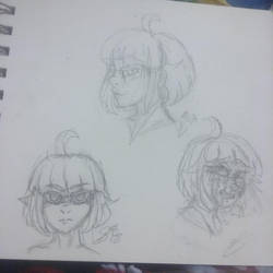 YANDERE OC: Kita Expression Practice by InvaderIka