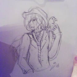 CP OC: Half-ass Doodle of the Bird Dad by InvaderIka