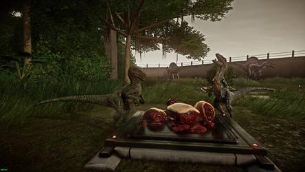 Raptors Eating by IIAnnaBananaII
