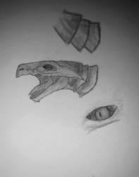 Dragon (face) by IIAnnaBananaII