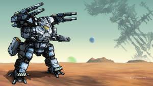 Canis BattleMech by jerryboomerwang