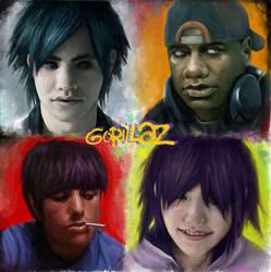 Gorillaz by Darey-Dawn
