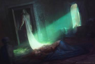 Battle Of The Blackwater  - Sandor and Sansa by Darey-Dawn