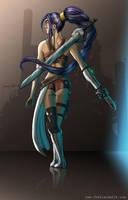 Warrior girl by jarnac