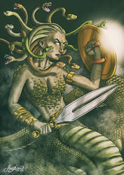 Medusa Gorgona by jarnac