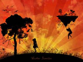 Vector Sunrise by RavenxCorpse