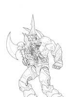 Warcraft Fan Art 2 Ink by M-Hydra