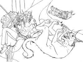 Warcraft Fan Art 3 Ink by M-Hydra