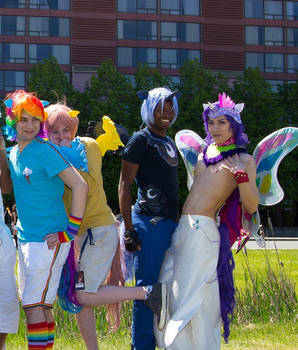 Genderbend/Rule 63 Winged MLP Cosplay Group by M-Hydra
