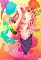 Color: Futaba Yoshioka by Panelletdelimon