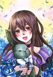 Pandora Hearts - Lacie and Black Rabbit by mirror-bluemoon
