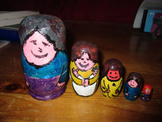 Very Rustic Nesting Dolls by ThornyEnglishRose