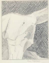 Cow Skull Crosshatch Shading by Swymco
