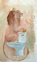 Royal Flush Painting by Sash-kash