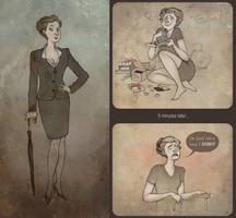 Miss Mycroft by Sash-kash