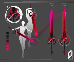Crimson time sword by tiwlymaster