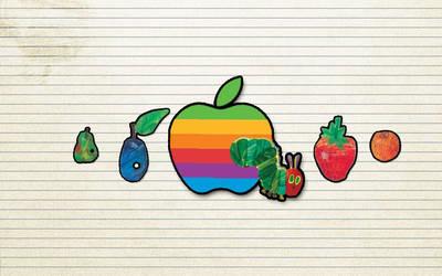 Very Hungry Caterpillar Macintosh Apple by LindsayCookie