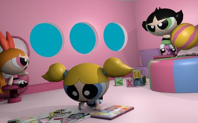Powerpuff Girls 3D scene by tifu