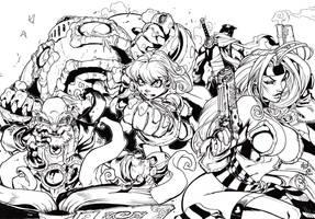 Battle Chaser Inks by JoshTempleton