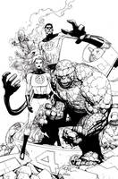 Leinil Fantastic Four ink by JoshTempleton