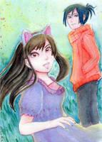 Noragami - Yato and Hiyori by ciel-kurogami