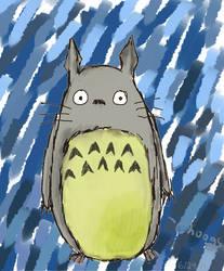 Totoro in the Rain by Treflex